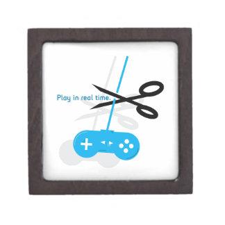 Tiempo real del juego caja de recuerdo de calidad