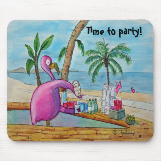Tiempo rosado del flamenco para ir de fiesta la ac tapetes de raton