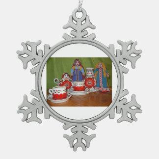 Tiempo ruso del té de la muñeca