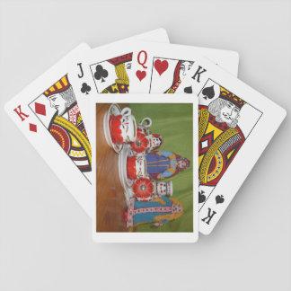 Tiempo ruso del té de la muñeca cartas de póquer