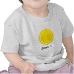 Tiempo soleado camisetas