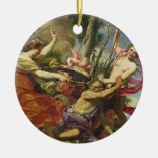 Tiempo superado por la juventud y la belleza ornaments para arbol de navidad