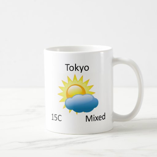 tiempo Tokio Taza Básica Blanca
