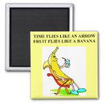 tiempo y plátanos imán para frigorífico
