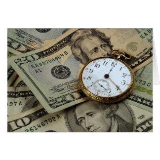 Tiempo y tarjeta del dinero