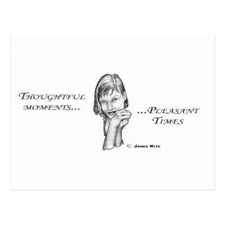 Tiempos agradables pensativos de los momentos… postal