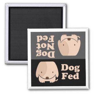 Tiempos de la comida de FED del perro de FED del p Imán Cuadrado