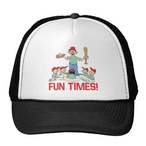 Tiempos de la diversión gorra