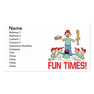 Tiempos de la diversión tarjeta de visita
