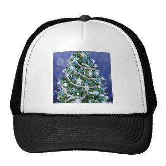 Tiempos frescos abstractos del árbol de navidad gorras