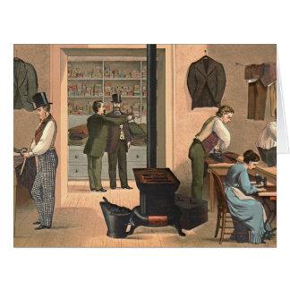 Tienda 1874 del sastre tarjeta de felicitación grande