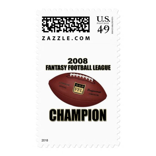 Tienda 2008 del campeón del fútbol de la fantasía sellos