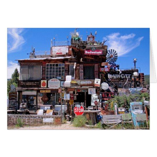 Tienda antigua de la ciudad de Idaho Tarjeta De Felicitación