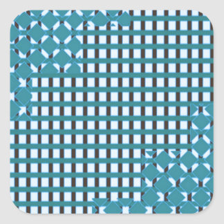 TIENDA BARATA de la chispa del modelo sq azul azul Pegatina Cuadrada