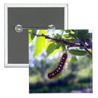 Tienda Caterpillar de bosque 1 botón Pin