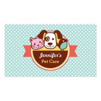Tienda de alimento para animales del cuidado de tarjetas de visita