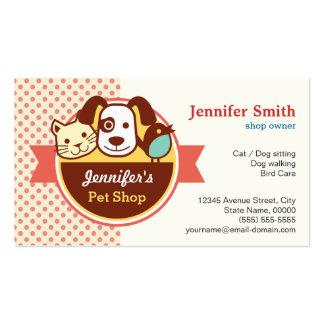 Tienda de animales - lunares lindos tarjetas de visita