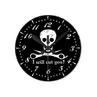 Tienda de belleza Pirate_Distressed_White Relojes