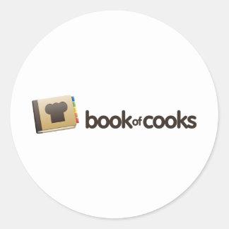 Tienda de BookofCooks Etiquetas Redondas