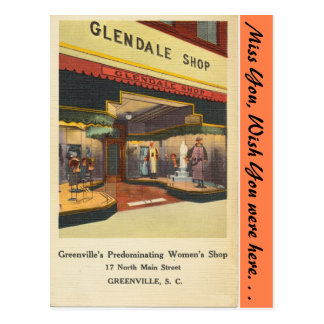 Tienda de Carolina del Sur, Glendale, Greenville Postales