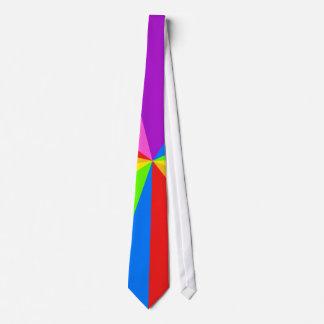 Tienda de circo del arco iris corbata personalizada