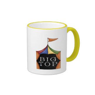 Tienda de circo del top grande taza de dos colores