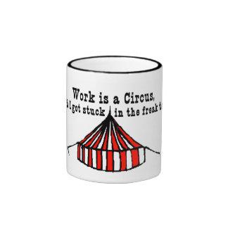 Tienda de circo taza de dos colores