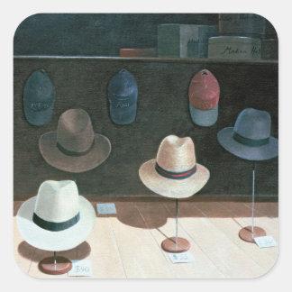 Tienda de gorra 1990 pegatina cuadrada