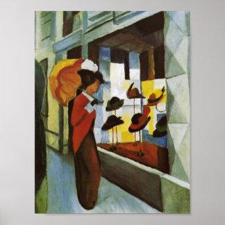 Tienda de gorra Hutladen 1914 Posters