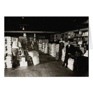Tienda de la alimentación de Purina, circa 1930 Tarjeta