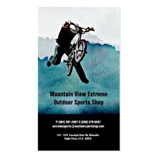 Tienda de la bicicleta o tienda de los deportes al plantilla de tarjeta de negocio