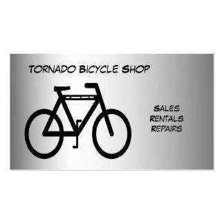 Tienda de la bicicleta tarjetas de visita