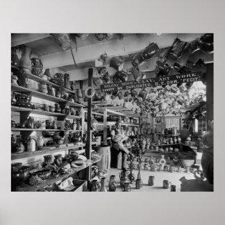 Tienda de la cerámica de George Ohr, 1901 Póster