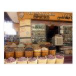 tienda de la especia de Egipto Tarjeta Postal
