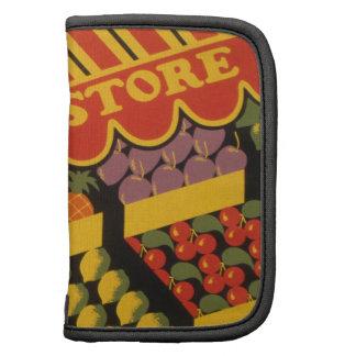 Tienda de la fruta del vintage organizador