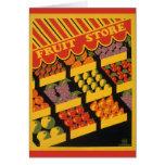 Tienda de la fruta del vintage tarjetas