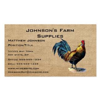 Tienda de la fuente de la granja de la lista de la tarjetas de visita