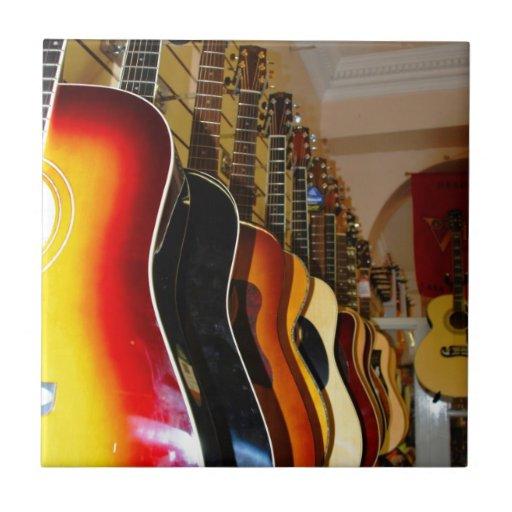 Tienda de la guitarra azulejo ceramica