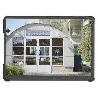 Tienda de la hamburguesa con el tejado curvado funda para iPad air