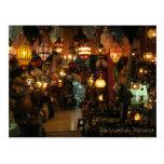 Tienda de la lámpara de Marrakesh Marruecos Tarjeta Postal