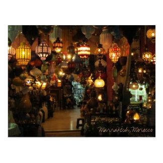 Tienda de la lámpara de Marrakesh Marruecos Tarjetas Postales