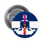 Tienda de la meditación de Colorado Chakra Pin Redondo De 2 Pulgadas