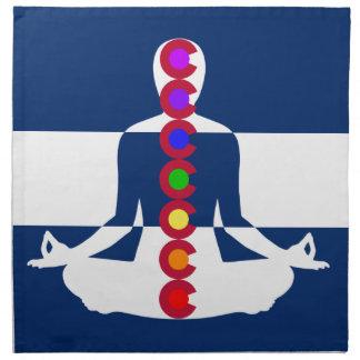 Tienda de la meditación de Colorado Chakra Servilleta De Papel