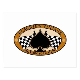 Tienda de la motocicleta del vintage de Blackie Tarjetas Postales