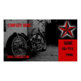 Tienda de la motocicleta tarjetas de visita