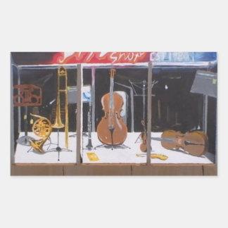 Tienda de la música rectangular altavoz