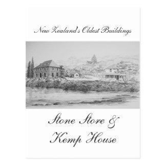 Tienda de la piedra de Kerikeri y casa de Kemp Tarjeta Postal
