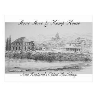 Tienda de la piedra de Kerikeri y casa de Kemp Tarjetas Postales