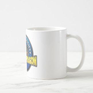 Tienda de la sociedad del dragón que lucha de oro taza de café