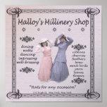 Tienda de la sombrerería de Malloy Póster